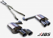 Milltek Cat-back- Non-Resonated with Dual Twin 80mm Jet Tips (For Audi S6 (C6) 5.2 V10)
