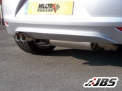 Milltek Cat-back - Resonated with Twin 80mm Jet Tail Pipes