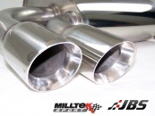 Milltek DPF-back with Twin GT80 Tips (For Audi A3, VW Golf/Scirocco 2.0 TDI 170 HP Models)