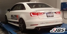Milltek Cat-Back - Non-Resonated with Dual GT100 Cerakote Black Tips (For Audi A3 Quattro Sedan 8V 2.0 TFSI, (U.S Only))