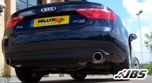 Milltek Cat-back with Dual Cerakote Black GT100 Tips (For Audi A5 3.0 TDI (DPF) Quattro)