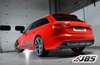 Milltek Cat-back - Resonated Using OEM Tail Pipe Trims (For Audi RS4 (B8) 4.2 V8 Quattro Avant)