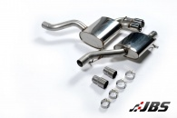 Milltek Cat-back - Resonated with Twin Ceramic Black GT80 Tips (For Audi S3 (8P) 2.0T)