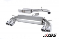 Milltek Cat-back - Resonated Non-Valved with Quad Polished Round Tips (For Audi S3 (8V) 2.0 T 3-Door)