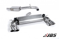 Milltek Cat-back - Resonated with Quad Polished Oval Tips (For Audi S3 (8V) 2.0 T Sportback)