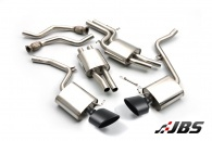 Milltek Cat-back - Resonated with Dual Black Oval Tips (For Audi S4 (B8) 3.0 V6/S5 3.0 TFSI)