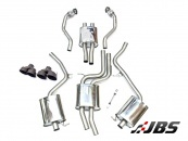 Milltek Cat-back - Resonated with Dual Twin GT100 Black Tips (For Audi S4 (B8.5) 2012+ 3.0 V6)