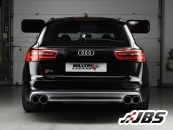 Milltek Turbo-back - Non-Resonated with Quad Black Tips (For Audi S6 (C7)/S7 Sportback 4.0 TFSI)
