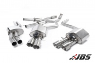 Milltek Cat-back - Non-Resonated with Quad Titanium GT100 Tips (For Audi S8 4.0 TFSI Quattro Tiptronic)