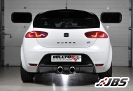 Milltek Cat-back - Non-Resonated with Dual GT100 Tips (For Seat Leon(1P) Cupra R)