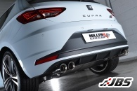 Milltek Cat-back Resonated with Dual Twin Polished GT80 Tips (For Seat Leon Cupra 2.0 TSI 280)