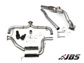 Milltek Turbo-back Non-Resonated Race System with Sports CAT and Black GT100 Tips (For VW Mk6 Golf GTI and Scirocco R)